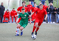 Jakob Lemmer (Offenbach) gegen Timo Wicht (Büttelborn) - Büttelborn 15.05.2019: SKV Büttelborn vs. Kickers Offenbach, A-Junioren, Hessenpokal Halbfinale