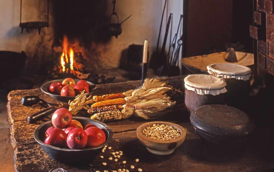 Early American hearth, Daniel Boone Homestead