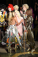 Alice Dellal, Pam Hogg and Anita Pallenberg<br /> at the Pam Hogg catwalk show as part of London Fashion Week SS17, Freemason's Hall, Covent Garden, London<br /> <br /> <br /> &copy;Ash Knotek  D3155  16/09/2016