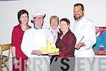 CULINARY: A night of European Culinary Delights on Thursday at the HCT Restaurant, North Campus ITT. Attending were, front: Liam McMahon (ITT) and Margaret Murray (Tralee). Back l-r: Selina O'Connor (Killorglin), Bridget McCarthy and Thomas Kraus (ITT)..