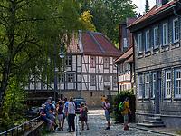 Fluss Abzucht, Neue Str. in Goslar, Niedersachsen, Deutschland, Europa, UNESCO-Weltkulturerbe<br /> River Abzucht, Neue St., Goslar, Lower Saxony,, Germany, Europe, UNESCO Heritage Site