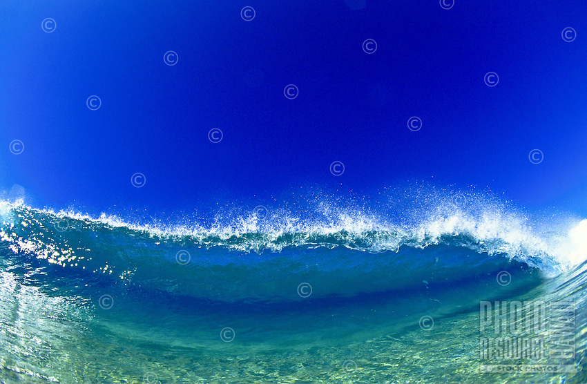 Wave, off the wall sandbar Oahu