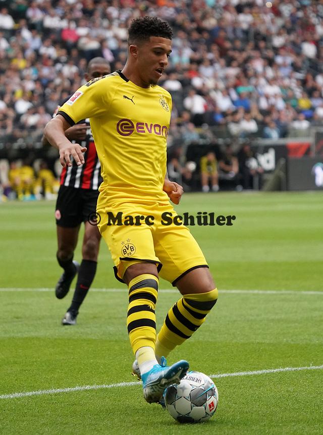 Jadon Sancho (Borussia Dortmund) - 22.09.2019: Eintracht Frankfurt vs. Borussia Dortmund, Commerzbank Arena, 5. Spieltag<br /> DISCLAIMER: DFL regulations prohibit any use of photographs as image sequences and/or quasi-video.