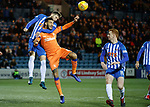09.02.2019: Kilmarnock v Rangers : Kirk Broadfoot gets Connor Goldson in a headlock
