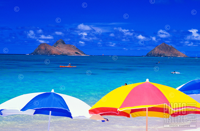 The beautiful Moku Lua Islands. Located near Lanikai Beach and Kailua Beach on Oahu's windward side.