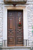 Domaine Grand Guilhem. In Cascastel-des-Corbieres. Fitou. Languedoc. A door. France. Europe.