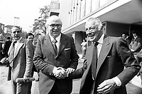 - Giovanni Spadolini, segretario del PRI (Partito Repubblicano Italiano) con Giovanni Agnelli nel 1980....- Giovanni Spadolini, secretary of the PRI (Italian Republican Party) with Giovanni Agnelli in 1980