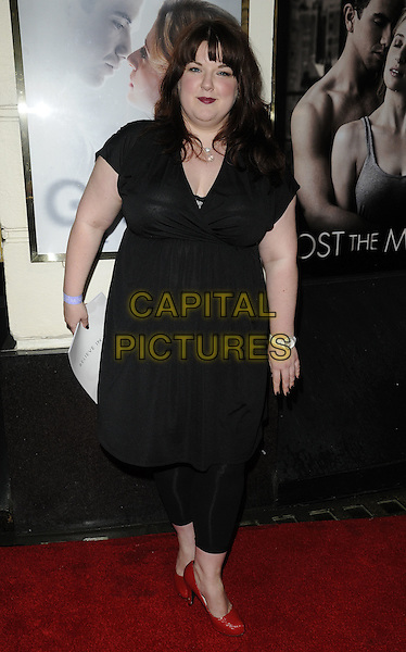 "LEANNE JONES.""Ghost The Musical"" press night, Piccadilly Theatre, Denman St., London, England..July 19th, 2011.full length black dress tights red shoes.CAP/CAN.©Can Nguyen/Capital Pictures."