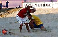 RAVENNA, ITALIA, 10 DE SETEMBRO 2011 - MUNDIAL BEACH SOCCER / BRASIL X PORTUGAL - Belchior jogador do Portugal , durante a partida contra o Brasil, válida pela semi-final do Mundial de Futebol de Areia no Estádio Del Mare, em Ravenna, na Itália, neste sábado (10).FOTO: VANESSA CARVALHO - NEWS FREE