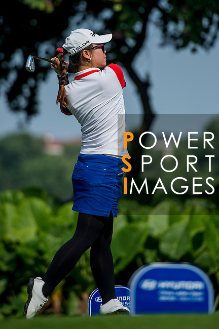 Players in action during the Hyundai China Ladies Open 2014 Pro-am on December 09 2014, in Shenzhen, China. Photo by Aitor Alcalde / Power Sport Images
