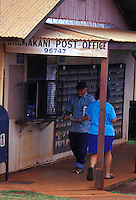 Locals gather their mail at the rustic Kaumakani Post Office, on Kauai's West Side.