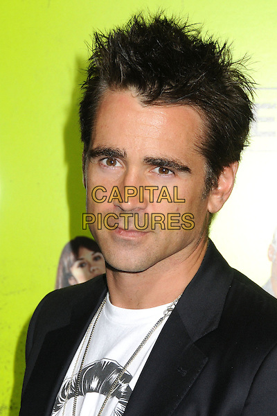 "Colin Farrell.""Seven Psychopaths"" Los Angeles Premiere held at the Bruin Theatre, Westwood, California, USA..October 1st, 2012.headshot portrait gold necklace black suit white top .CAP/ADM/BP.©Byron Purvis/AdMedia/Capital Pictures."