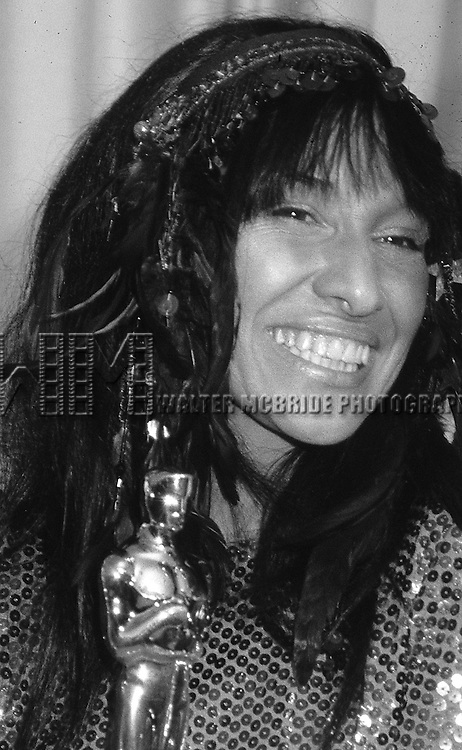 Buffy St. Marie pictured at the Academy Awards in April of 1983,