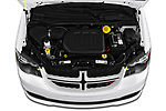 Car Stock 2019 Dodge Grand-Caravan GT 5 Door Minivan Engine  high angle detail view