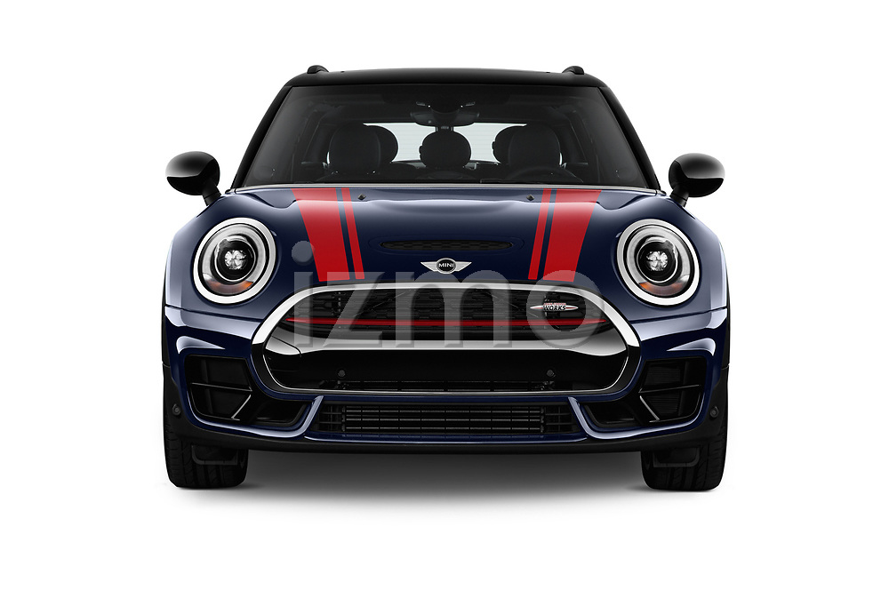 Car photography straight front view of a 2018 Mini Clubman John Cooper Works 5 Door Wagon