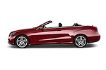 Car Driver side profile view of a 2015 Mercedes Benz E Class AMG Line 2 Door Convertible 2WD Side View