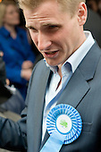 Conservative parliamentary candidate Chris Philp in the marginal constituency of Hampstead and Kilburn.