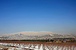 Golan Heights, a view towards Mount Hermon from road 98