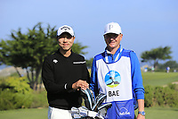 Sang-Moon Bae (KOR) and caddy Basile on the 7th tee of Monterey Peninsula CC during Saturday's Round 3 of the 2018 AT&amp;T Pebble Beach Pro-Am, held over 3 courses Pebble Beach, Spyglass Hill and Monterey, California, USA. 10th February 2018.<br /> Picture: Eoin Clarke | Golffile<br /> <br /> <br /> All photos usage must carry mandatory copyright credit (&copy; Golffile | Eoin Clarke)