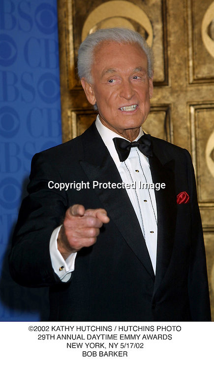 ©2002 KATHY HUTCHINS / HUTCHINS PHOTO.29TH ANNUAL DAYTIME EMMY AWARDS.NEW YORK, NY 5/17/02.BOB BARKER