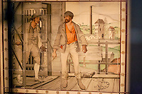 This tilework painted by William de Morgan, in Bishop George Augustus Selwyn's tomb is said to commerate the Pelsall Hall Colliery disaster of 1872, when 22 miners, men and boys lost their lives