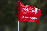 The pin flag on 4 waves in the early afternoon wind during round 4 of the 2019 US Women's Open, Charleston Country Club, Charleston, South Carolina,  USA. 6/2/2019.<br /> Picture: Golffile | Ken Murray<br /> <br /> All photo usage must carry mandatory copyright credit (© Golffile | Ken Murray)