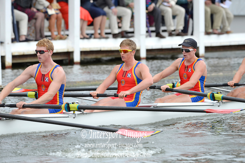 Henley on Thames. United Kingdom.  Princess Challenge, Scotch College AUS. 2013 Henley Royal Regatta, Henley Reach.  Wednesday  03/07/2013  [Mandatory Credit Peter Spurrier/ Intersport Images]