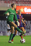 UEFA Women's Champions League 2017/2018.<br /> Round of 16.<br /> FC Barcelona vs Gintra Universitetas: 3-0.<br /> Greta Kaselyte vs Toni Duggan.