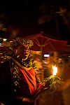 The Tiki Bar at the Ka'anapali Beach hotel offers nightly Hula shows and Hawaiian music at their outdoor bar.  The hotel's emphasis is on Hawaiian culture and tradition.