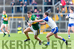 Kerrys James O'Donoghue turns Ryan Wylie Monaghan furing their NFL clash in Fitzgerald Stadium on Sunday