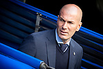 Real Madrid coach Zinedine Zidane during La Liga match between Real Madrid and Leganes at Santiago Bernabeu Stadium in Madrid, Spain. April 28, 2018. (ALTERPHOTOS/Borja B.Hojas)