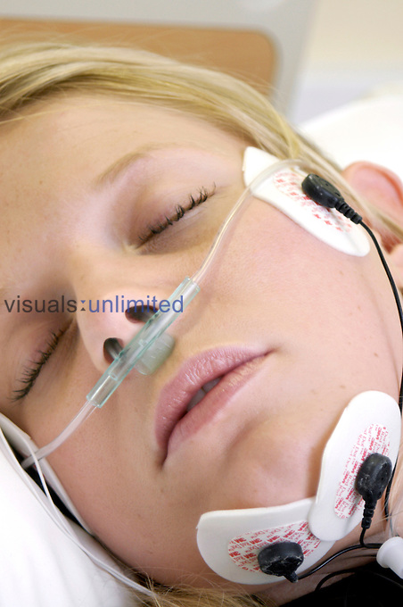 Sleep study to determine the cause of temporary pauses in breathing (sleep apnea) by measuring electrical activity in the heart, brain, facial muscles and neck.
