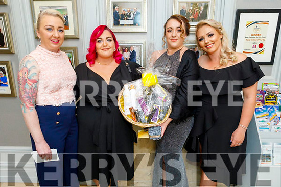 Rachel Aslett, Jenny O'Brien, Mairead McGarry and Romy Birdthistle, attending the Connect Magazine Hair and Beauty Awards in the Rose Hotel on Sunday,