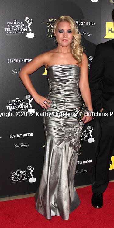 LOS ANGELES - JUN 23:  Kristen Alderson arrives at the 2012 Daytime Emmy Awards at Beverly Hilton Hotel on June 23, 2012 in Beverly Hills, CA