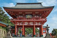 Sanmon gate at the entrance of Udo-Jingu shinto temple.
