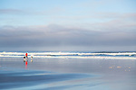 "Neahkahnie Beach in Manzanita, Oregon, a small beach town located in Tillamook County on the Northern Oregon coast.  Manzanita means ""little apple"" in Spanish.  Neahkahnie Mountain is located at the north end of the 7 mile long beach."