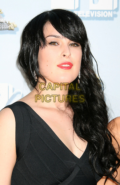 RUMER WILLIS.Arrivals - 2008 MTV Movie Awards held at Gibson Amphitheatre, Universal City, California, USA, 01 June 2008..portrait headshot black red lipstick fringe.CAP/ADM/MJ.©Michael Jade/Admedia/Capital Pictures