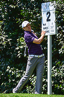 Jordan Spieth (USA) watches his tee shot on 2 during round 1 of the World Golf Championships, Mexico, Club De Golf Chapultepec, Mexico City, Mexico. 3/2/2017.<br /> Picture: Golffile | Ken Murray<br /> <br /> <br /> All photo usage must carry mandatory copyright credit (&copy; Golffile | Ken Murray)
