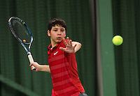 Rotterdam, The Netherlands, 15.03.2014. NOJK 14 and 18 years ,National Indoor Juniors Championships of 2014, Sidané Pontjodikromo (NED) <br /> Photo:Tennisimages/Henk Koster