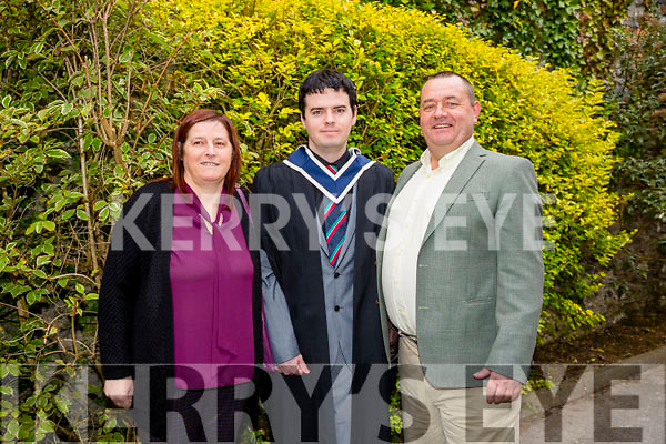 At the ITT Conferring Ceremony in the Brandon Hotel on Thursday were Bachelor of Arts and Hotel Management  Daniel Griffin with his parents Teresa Griffin and Donie John Griffin.