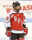 Brock Higgs (RPI - 23) - The visiting Rensselaer Polytechnic Institute Engineers tied their host, the Northeastern University Huskies, 2-2 (OT) on Friday, October 15, 2010, at Matthews Arena in Boston, MA.