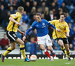 Dean Shiels runs out of defence with the ball