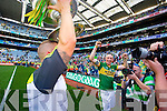 Barry John Keane and Kieran Donaghy. Kerry players celebrate their victory over Donegal in the All Ireland Senior Football Final in Croke Park Dublin on Sunday 21st September 2014.