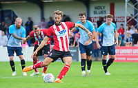 Lincoln City's Jorge Grant scores his side's third goal from the penalty spot<br /> <br /> Photographer Chris Vaughan/CameraSport<br /> <br /> Football Pre-Season Friendly (Community Festival of Lincolnshire) - Gainsborough Trinity v Lincoln City - Saturday 6th July 2019 - The Martin & Co Arena - Gainsborough<br /> <br /> World Copyright © 2018 CameraSport. All rights reserved. 43 Linden Ave. Countesthorpe. Leicester. England. LE8 5PG - Tel: +44 (0) 116 277 4147 - admin@camerasport.com - www.camerasport.com