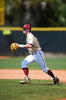 Boston College Eagles second baseman Jake Palomaki (11) during practice before a game against the Central Michigan Chippewas on March 3, 2017 at North Charlotte Regional Park in Port Charlotte, Florida.  Boston College defeated Central Michigan 5-4.  (Mike Janes/Four Seam Images)