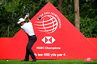 Wenchong Liang (CHN)on the 9th tee  during the 1st round at the WGC HSBC Champions 2018, Sheshan Golf CLub, Shanghai, China. 25/10/2018.<br /> Picture Phil Inglis / Golffile.ie<br /> <br /> All photo usage must carry mandatory copyright credit (&copy; Golffile | Phil Inglis)
