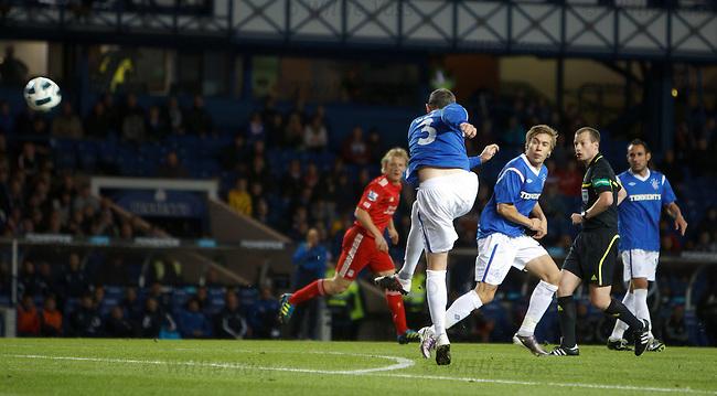 David Weir attempts an audacious shot on goal