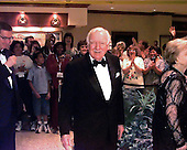 Washington, DC - (FILE) --Walter Cronkite arrives at the White House Correspondents Dinner on April 25, 1998.  Mr. Cronkite passed away on Friday, July 17, 2009..Credit: Ron Sachs / CNP