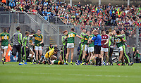 Kerry minors  celebrate on winning the All-Ireland Minor final at Croke on Sunday.<br /> Photo: Don MacMonagle