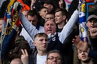 Leeds United fans in fine voice<br /> <br /> Photographer Alex Dodd/CameraSport<br /> <br /> The EFL Sky Bet Championship - Leeds United v Sheffield United - Saturday 16th March 2019 - Elland Road - Leeds<br /> <br /> World Copyright © 2019 CameraSport. All rights reserved. 43 Linden Ave. Countesthorpe. Leicester. England. LE8 5PG - Tel: +44 (0) 116 277 4147 - admin@camerasport.com - www.camerasport.com